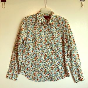 J CREW LIBERTY Fabric Floral Cotton BLOUSE TOP 12